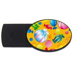 Sweets And Sugar Candies Vector  Usb Flash Drive Oval (2 Gb)