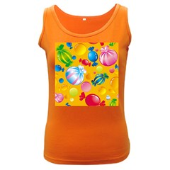 Sweets And Sugar Candies Vector  Women s Dark Tank Top