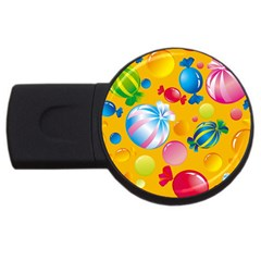 Sweets And Sugar Candies Vector  Usb Flash Drive Round (4 Gb)