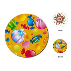 Sweets And Sugar Candies Vector  Playing Cards (round)