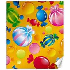 Sweets And Sugar Candies Vector  Canvas 20  X 24