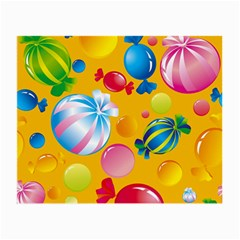 Sweets And Sugar Candies Vector  Small Glasses Cloth (2 Side)