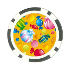 Sweets And Sugar Candies Vector  Poker Chip Card Guard (10 Pack)