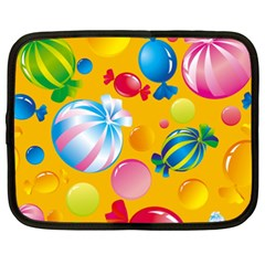 Sweets And Sugar Candies Vector  Netbook Case (xxl)