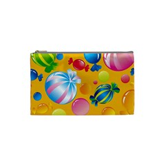 Sweets And Sugar Candies Vector  Cosmetic Bag (small)