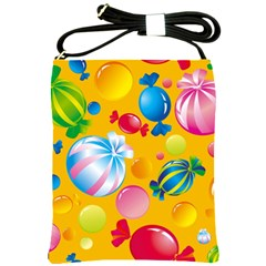 Sweets And Sugar Candies Vector  Shoulder Sling Bags