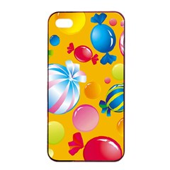 Sweets And Sugar Candies Vector  Apple Iphone 4/4s Seamless Case (black)