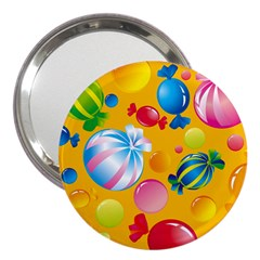 Sweets And Sugar Candies Vector  3  Handbag Mirrors