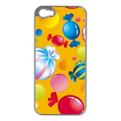 Sweets And Sugar Candies Vector  Apple Iphone 5 Case (silver)