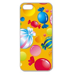 Sweets And Sugar Candies Vector  Apple Seamless Iphone 5 Case (clear)