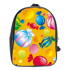 Sweets And Sugar Candies Vector  School Bags (xl)