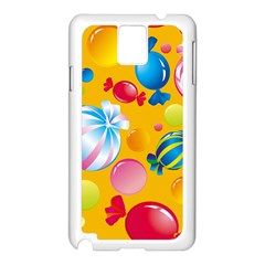 Sweets And Sugar Candies Vector  Samsung Galaxy Note 3 N9005 Case (white)
