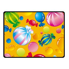 Sweets And Sugar Candies Vector  Double Sided Fleece Blanket (small)