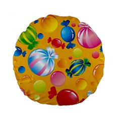 Sweets And Sugar Candies Vector  Standard 15  Premium Flano Round Cushions