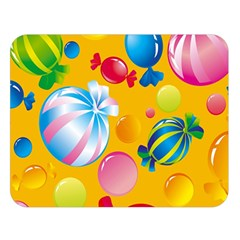 Sweets And Sugar Candies Vector  Double Sided Flano Blanket (large)