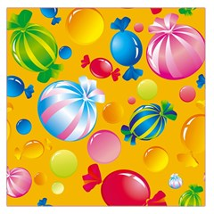 Sweets And Sugar Candies Vector  Large Satin Scarf (square)
