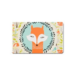 Foxy Fox Canvas Art Print Traditional Magnet (name Card)