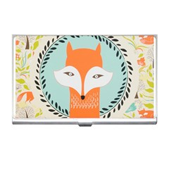 Foxy Fox Canvas Art Print Traditional Business Card Holders