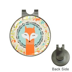Foxy Fox Canvas Art Print Traditional Hat Clips With Golf Markers