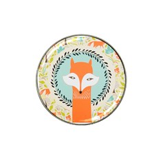 Foxy Fox Canvas Art Print Traditional Hat Clip Ball Marker (4 Pack)