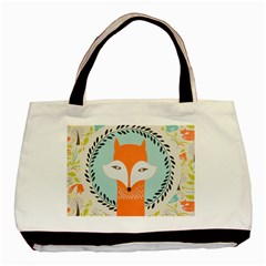 Foxy Fox Canvas Art Print Traditional Basic Tote Bag (two Sides)