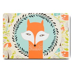 Foxy Fox Canvas Art Print Traditional Large Doormat
