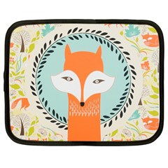 Foxy Fox Canvas Art Print Traditional Netbook Case (large)