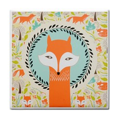 Foxy Fox Canvas Art Print Traditional Face Towel