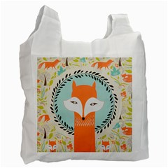 Foxy Fox Canvas Art Print Traditional Recycle Bag (two Side)