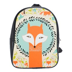 Foxy Fox Canvas Art Print Traditional School Bags(large)
