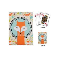 Foxy Fox Canvas Art Print Traditional Playing Cards (mini)