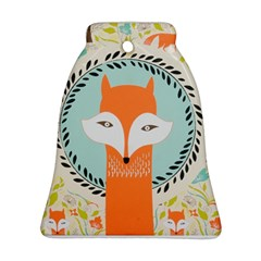 Foxy Fox Canvas Art Print Traditional Bell Ornament (two Sides)