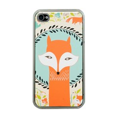 Foxy Fox Canvas Art Print Traditional Apple Iphone 4 Case (clear)