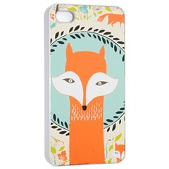Foxy Fox Canvas Art Print Traditional Apple Iphone 4/4s Seamless Case (white)