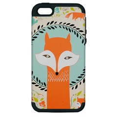 Foxy Fox Canvas Art Print Traditional Apple Iphone 5 Hardshell Case (pc+silicone)