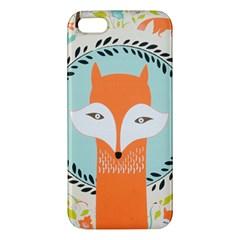 Foxy Fox Canvas Art Print Traditional Apple Iphone 5 Premium Hardshell Case