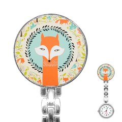 Foxy Fox Canvas Art Print Traditional Stainless Steel Nurses Watch