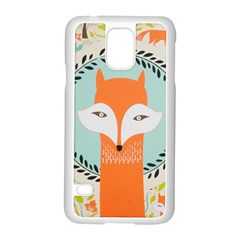 Foxy Fox Canvas Art Print Traditional Samsung Galaxy S5 Case (white)
