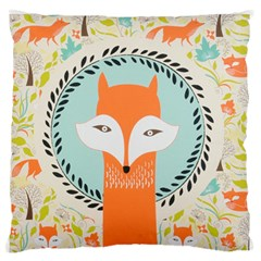 Foxy Fox Canvas Art Print Traditional Standard Flano Cushion Case (two Sides)