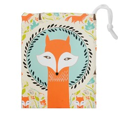 Foxy Fox Canvas Art Print Traditional Drawstring Pouches (xxl)