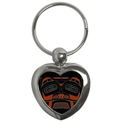 Traditional Northwest Coast Native Art Key Chains (heart)