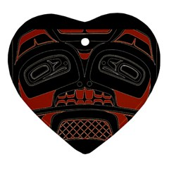 Traditional Northwest Coast Native Art Heart Ornament (two Sides)