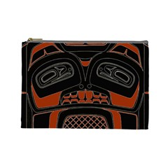 Traditional Northwest Coast Native Art Cosmetic Bag (large)