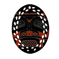 Traditional Northwest Coast Native Art Oval Filigree Ornament (two Sides)