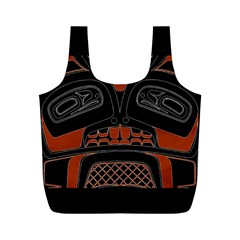 Traditional Northwest Coast Native Art Full Print Recycle Bags (m)