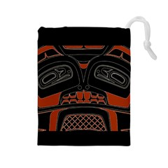 Traditional Northwest Coast Native Art Drawstring Pouches (large)