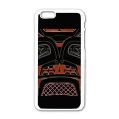 Traditional Northwest Coast Native Art Apple Iphone 6/6s White Enamel Case