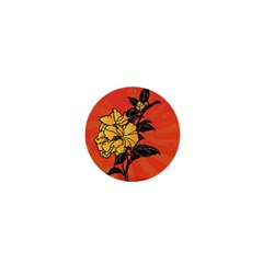 Vector Asian Flowers 1  Mini Magnets