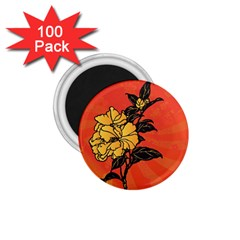 Vector Asian Flowers 1 75  Magnets (100 Pack)