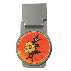Vector Asian Flowers Money Clips (round)